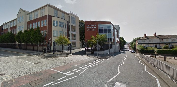 The section of Manchester Road near Cardinal Newman College which is shut Pic: Google