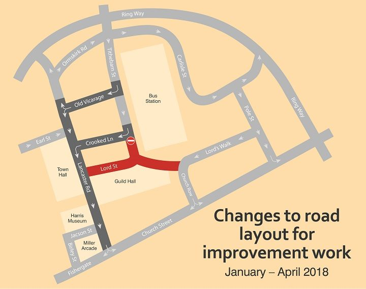 Changes to road layouts around Lancaster Road from Monday (8 January)