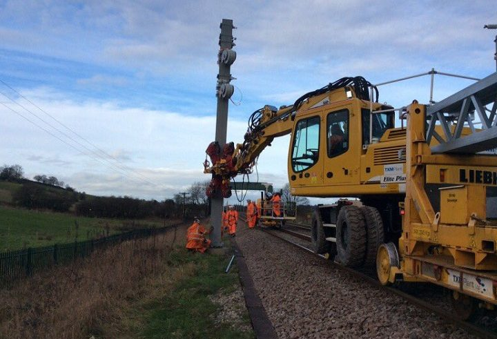 Work on the Preston to Manchester line