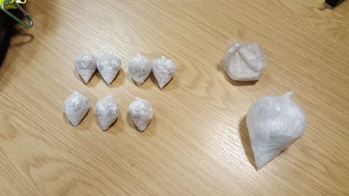 The drugs were found in the vehicles once searched by police Pic: LancsRoadPolice