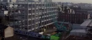 Timelapse footage has been released showing the building going up