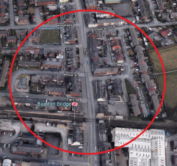 The area where the flashing incidents took place