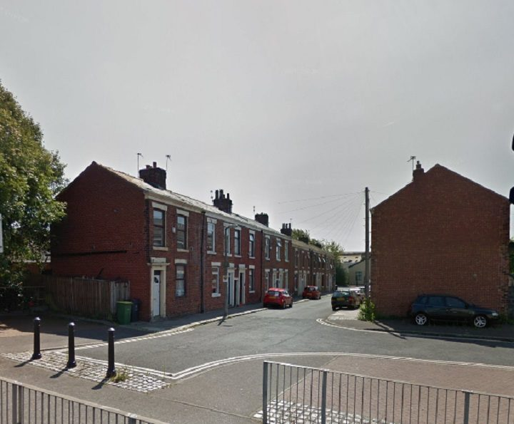 The fire started in an alleyway in Kingswood Street Pic: Google