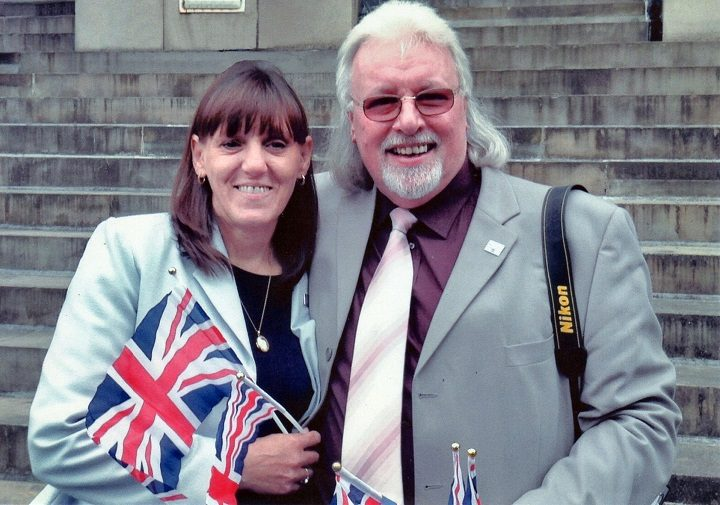 Gill and Paul on Armed Forces Day in 2015, covering it for Blog Preston