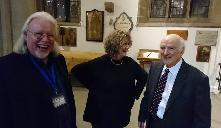 Paul Swarbrick, left, pictured at a recent Preston Historical Society event at Preston Minster with Pat Harrison and Stephen Sartin