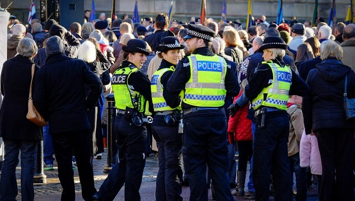 Police on patrol at an event in Preston city centre Pic: Paul Melling