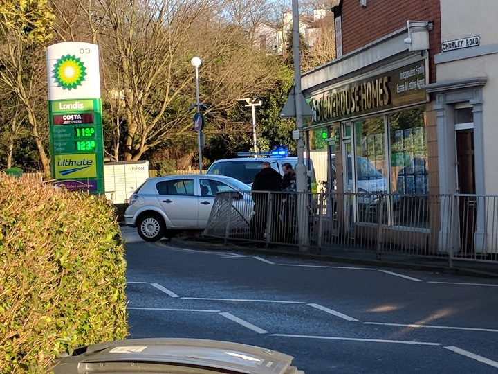 The scene at the Chorley Road and Victoria Road junction Pic: Stephan Berrill
