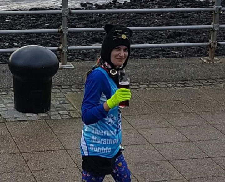 Gina Biggs has completed 100 marathons