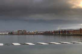 A cold day on Preston Docks Pic: Tony Worrall