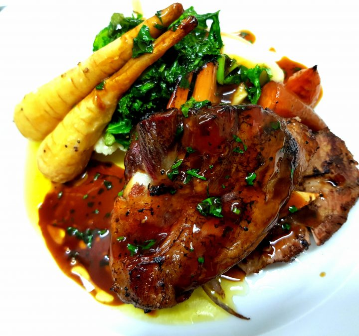 Braised lamb with butternut squash