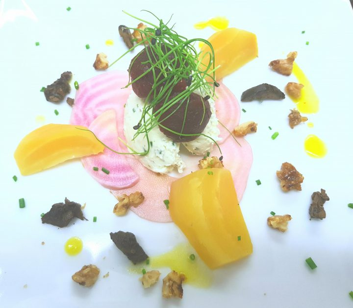Beetroot and goats cheese mousse