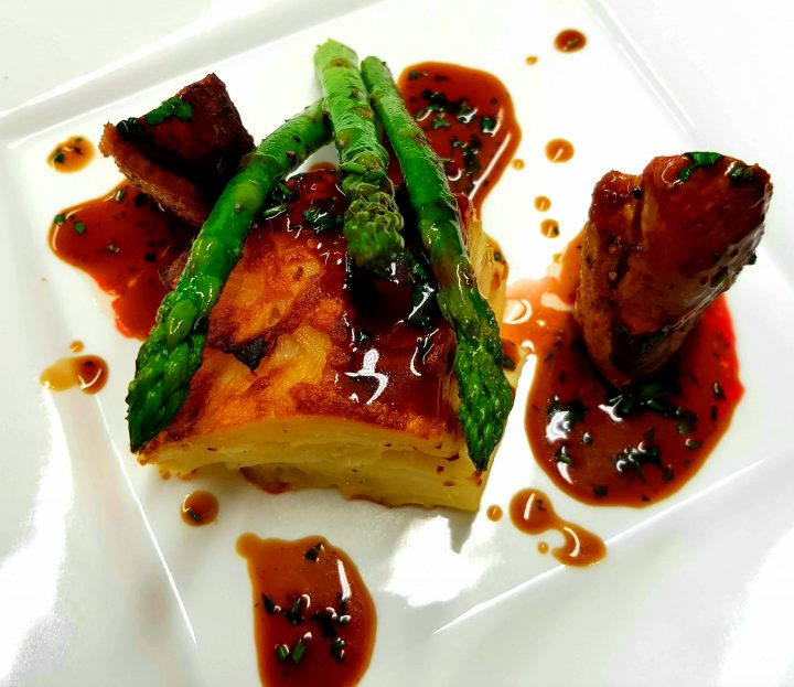 Duck breast with potato dauphinoise
