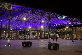 The new Preston Market Hall at night Pic: Tony Worrall