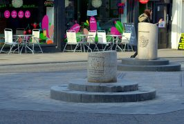 Fishergate Bollard back in its rightful place Pic: Tony Worrall