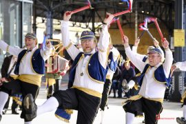 Morris dancers at the Markets Pic: Paul Melling