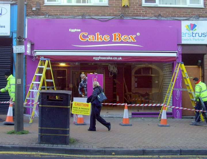 The Egg Free Cake Box store being fitted out in Church Street Pic: Tony Worrall