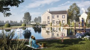 An artist impression of how part of the Alston Bank development is due to look