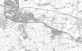 The A583 section with the new average speed cameras