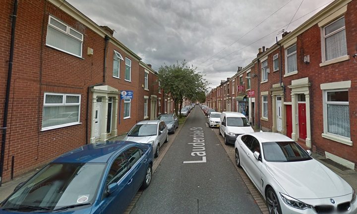 Lauderdale Street where the incident took place Pic: Google