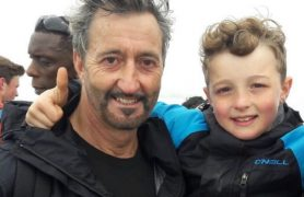 David Capitan, 11, is climbing high