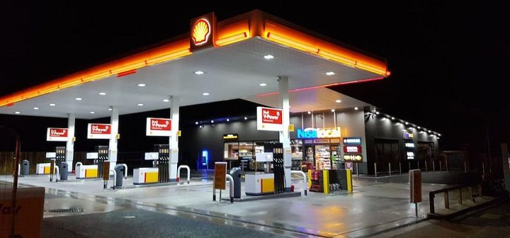 The revamped Shell garage