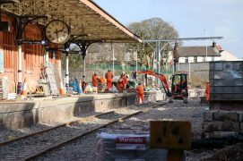 Work ongoing at Poulton station