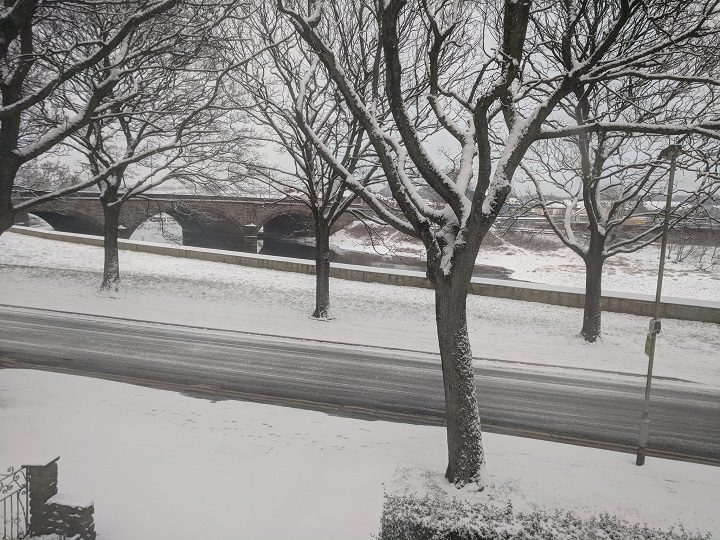 The snow in the London Road area near the River Ribble Pic: Sid