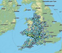Where reports of the earthquake have been logged across mainly the western side of the UK Pic: LastQuake