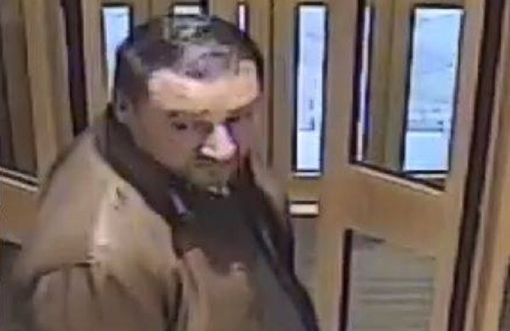 Picture of a man police want to speak to following the incident