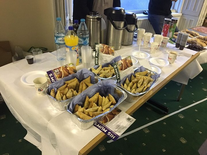 Samosas and other goodies on offer