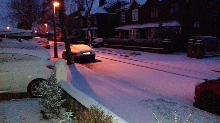 Snow in Fulwood, Preston