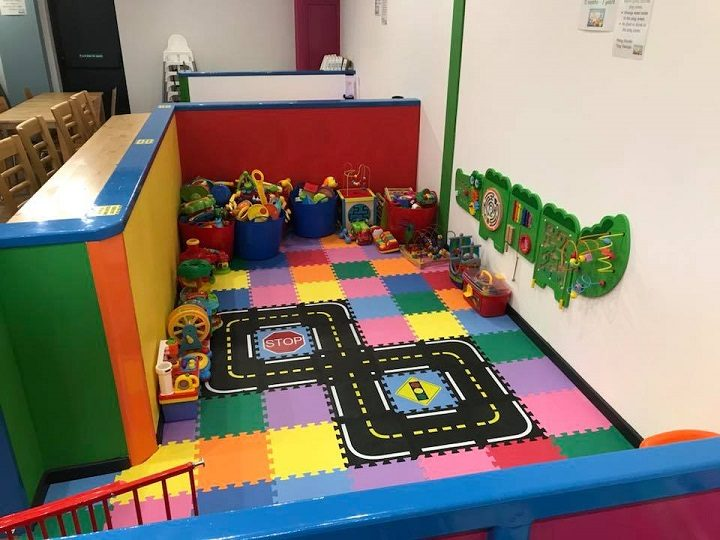 One of the play areas for toddlers