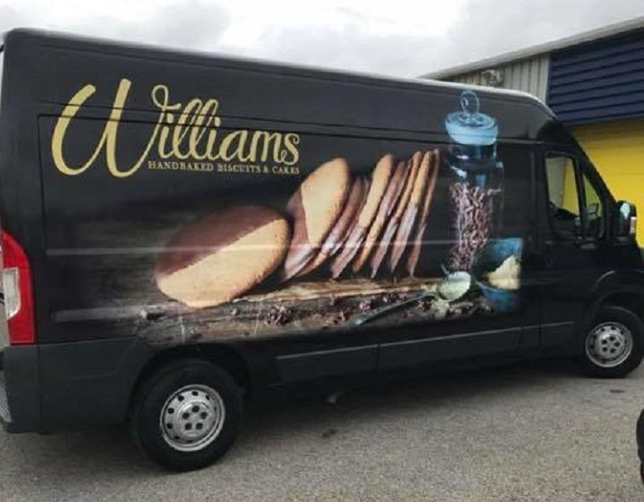 The van, which is relied upon by the family firm, was found the same afternoon