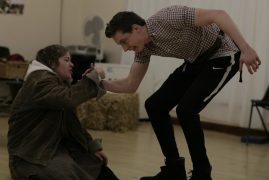 Acting students Lily Almond and Jack Price in rehearsals for The Winter's Tale