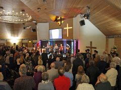 Hundreds of people attended the anniversary thanksgiving service.