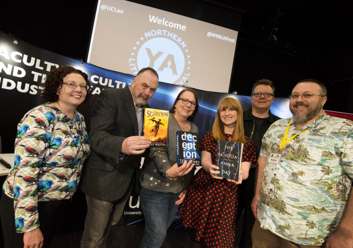 The Northern Young Adults Literary Festival group at last year's event