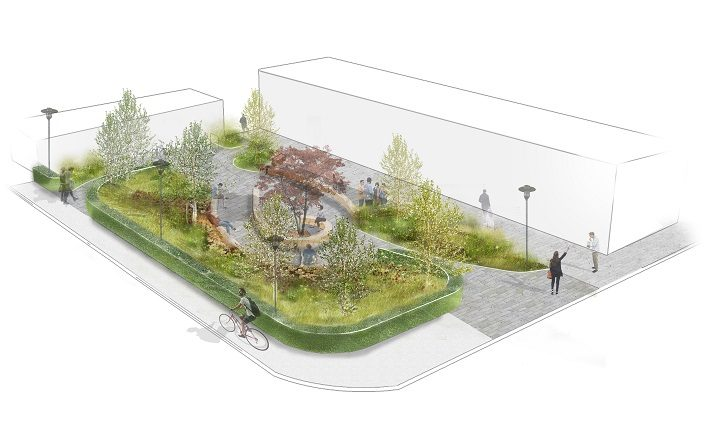 Foster gardens will be created on the Preston campus