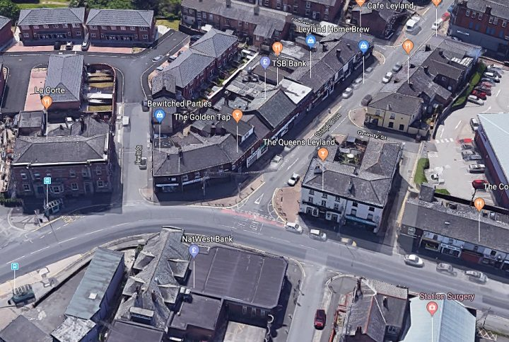 An overhead view of the junction which could be blocked off Pic: Google