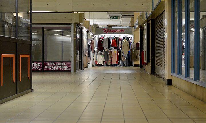 An empty Preston Market Hall