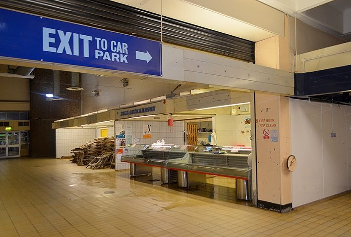 What used to be the way out of the Market
