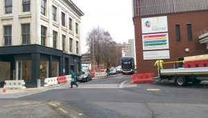 Work continues between Lord Street and Lancaster Road