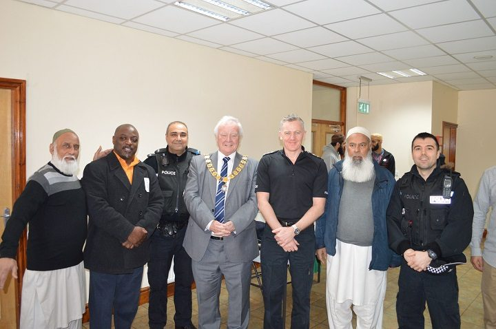 Raza mosque with community leaders