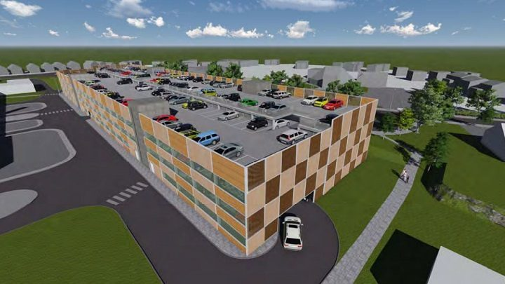 An aerial view of the proposed car park at Royal Preston Hospital
