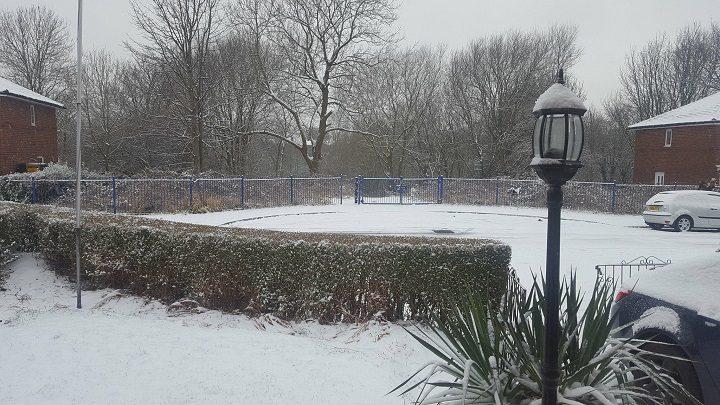 A snowy scene in Preston Pic: Angie Worrall