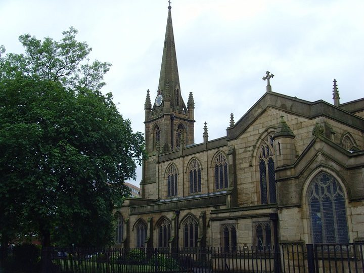 The proposed car park location is just yards from St Ignatius Church Pic: Tony Worrall