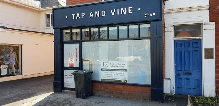 Tap and Vine in Penwortham is preparing to open Pic: Eric Prescott