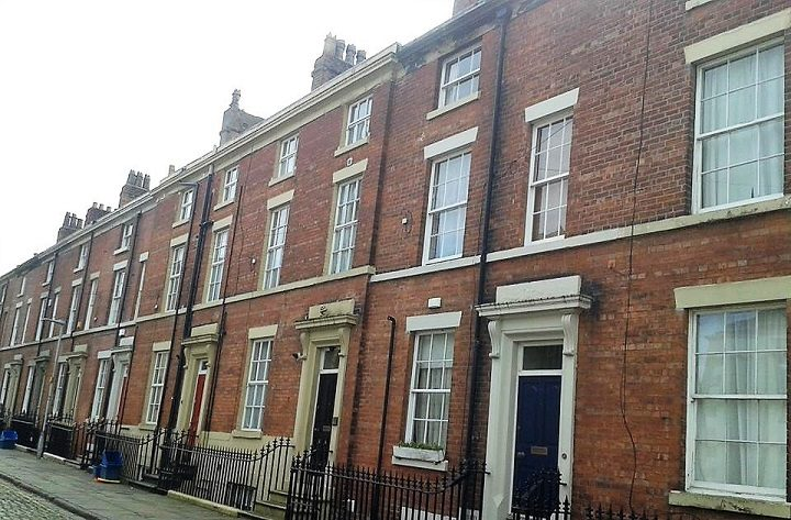 Wellington Street is lined with period properties