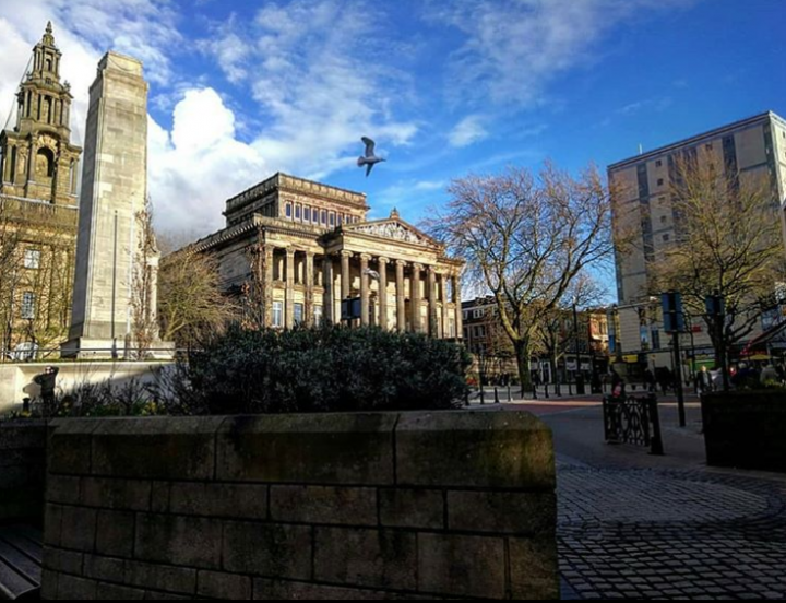A crisp day on the Flag Market with the Harris Museum in the background. Pic: @jg_hickey