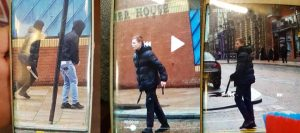 CCTV images show the knife in the city centre