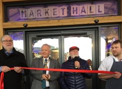 Sam Livesey helped cut the ribbon at the Preston Markets opening